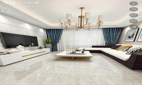 南昌新建城現代簡約風格四居室裝修案例,典雅有格調的空間