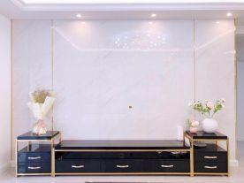 大連華潤海中國現代簡約二居室裝修案例,簡單又不失設計感