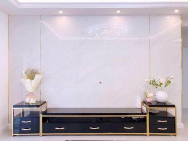 大连华润海中国简约轻奢三居室装修案例,简单又不失设计感