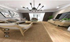 南昌萬達旅游城北歐風格三居室裝修案例