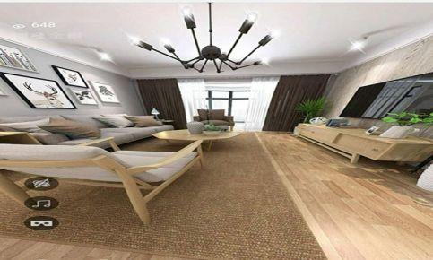 南昌万达旅游城北欧风格三居室装修案例