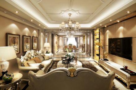 廊坊大公馆欧式三居室装修案例,优雅古典恰到好处