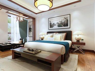 天津中式风格三居室装修效果图