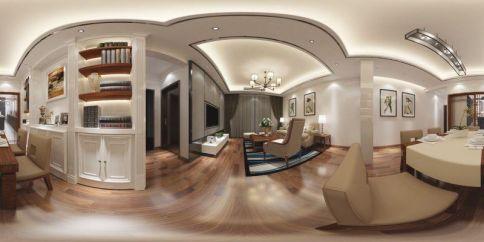 厦门现代风格两居室装修效果图