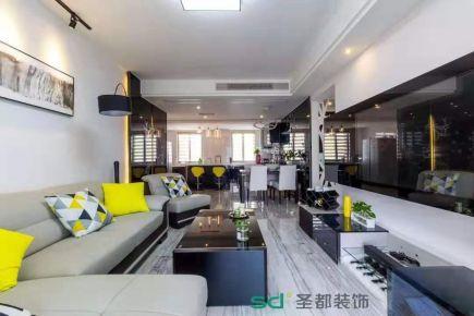 杭州现代风格四居室装修效果图