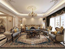 杭州欧式风格四居室装修效果图