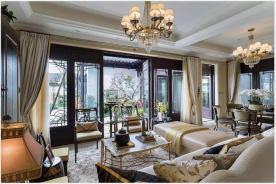 深圳轻奢雅致的中式别墅装修,东西融合