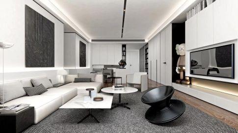 北京公园悦府简约风格二居室装修效果图欣赏
