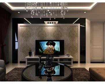 西宁夏都家园70平现代简约二居室装修,简单又不失设计感