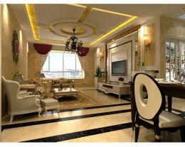 西宁三榆龙湖花园欧式复古公寓 简洁沉稳二居室装修