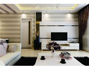 西宁维?#26448;?00平简约二居室装修 简单创意生活