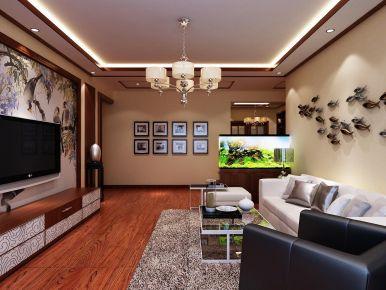 西宁紫荆家苑中式风情二居室装修效果图案例