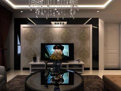西宁夏都家园奢华欧式二居室装修效果图