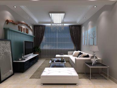 西宁夏都景苑现代简约二居室装修 室内设计纯美实用