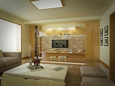 西宁简约风格两居室装修效果图,雅致极简风!