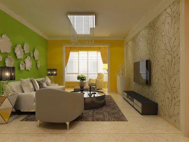 西宁西城名邸简约风格两居室装修效果图