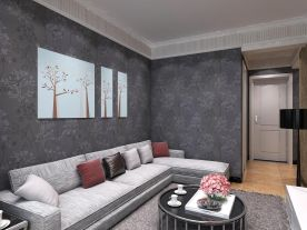 西宁西钢住宅现代简约风格二居室装修,时尚且优雅