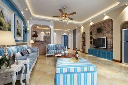 西宁地中海风格两居室装修案例