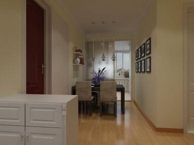 西宁瑞和园创意混搭风格两居室装修效果图