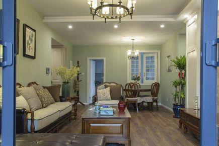 福州大名城150㎡美式三居室装修,宽敞明亮有气质