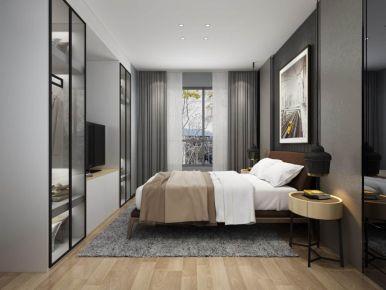 厦门国贸天琴湾现代风格三居室装修效果图