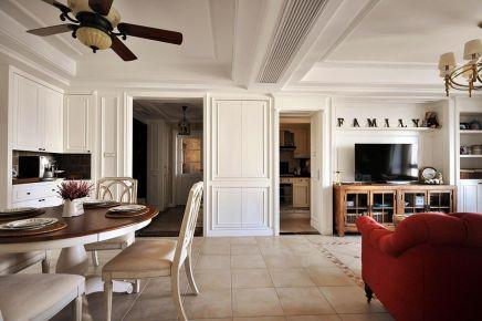 福州名城国际130平美式休闲三居室装修案例