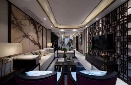 厦门五缘湾中式风格四居室装修效果图