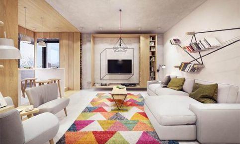杭州创一居装饰-美耀湾现代风格三居室装修效果图