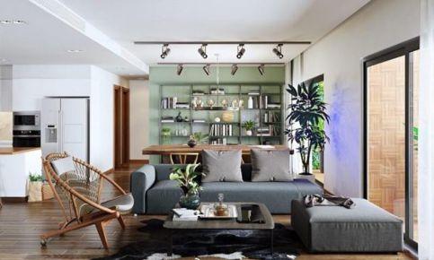 杭州创一居-新城红郡混搭风格四居室装修效果图