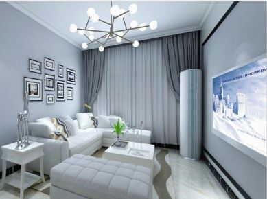 成都鼎犀名城现代简约二居室小复式装修 室内设计纯美实用