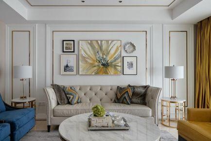 淮安钱隆御锦原木现代风三居室装修案例,清新的配色让人喜欢