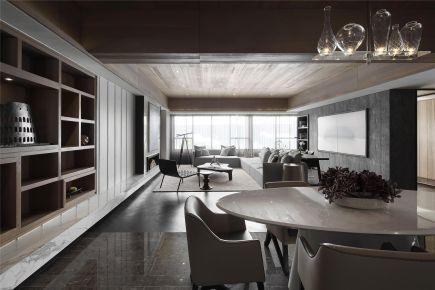 福州东方名城现代简约三居室装修案例,精致时尚有质感!