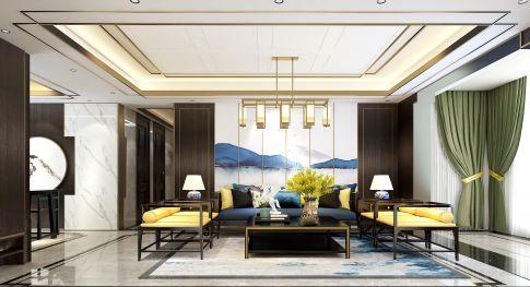 厦门香港财富新中式风格四居装修效果图