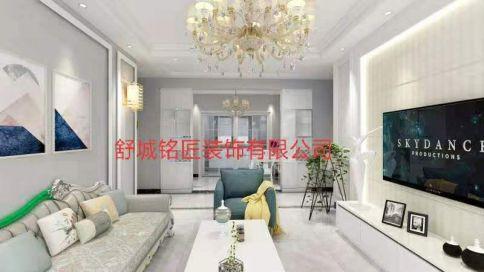 六安聚贤园小区现代简欧风格三居室装修效果图