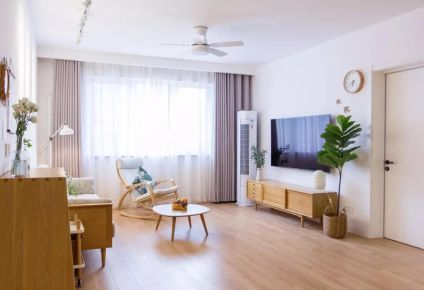 福州世歐王莊150㎡日式+北歐?3室2廳裝修案例,溫潤柔和的暖心之家!