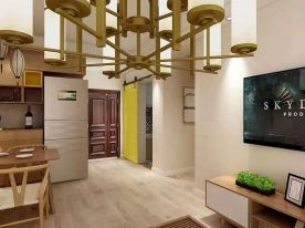 淮安星河花园原木日式二居室装修案例,给你享之不尽的温暖