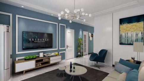六安杭埠舒洲花园北欧风格三居室装修效果图