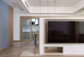 东莞桥头简约原木日式风格三居室装修效果图