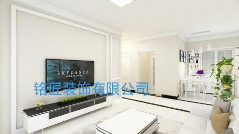 六安欣然兰溪现代简欧风格三居室装修案例