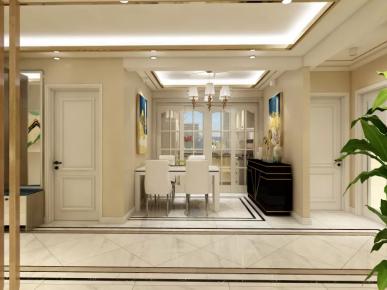 东莞新城市花园现代风格三居室装修效果图