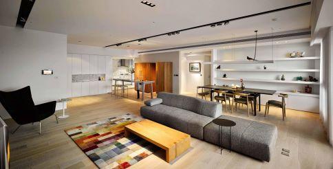 福州155㎡现代简约三居室装修设计,时尚又美观!