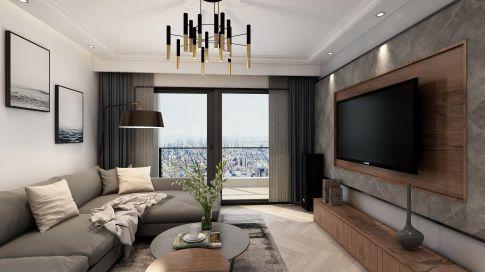 龙岩金岸佳园现代四居室样板房装修案例