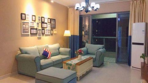 长沙半山壹号美式风格三居室装修,朴素华丽又温暖的家!