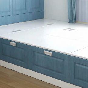太原115平现代简约三居室装修,用淡蓝色打造清新感!
