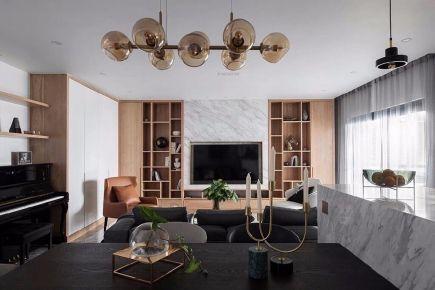 六安名邦中央公馆现代四居室装修案例,142平米的房子装修多少钱?