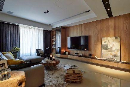六安御龙湾清爽纯粹质朴原木风格自然家装修案例