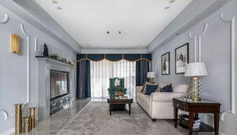 福州阳光城斐丽湾143㎡轻奢美式3室2厅装修,榻榻米和书房简直绝配!
