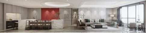 晋江世贸御龙湾中式风格四居室装修效果图