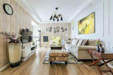 福州名城国际105㎡美式三居室装修效果图