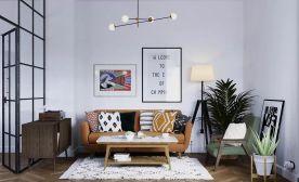 福州金融街官邸现代风格小户型公寓装修效果图,独立品质雅致生活!